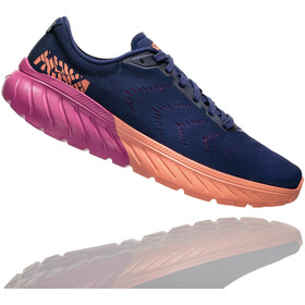 Hoka One One Mach 2 Zapatillas running Mujer, medieval blue/very berry